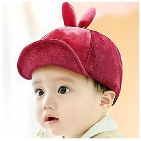 Mũ nhung sơ sinh MZ5022 hình mặt thỏ,tai thỏ cho bé