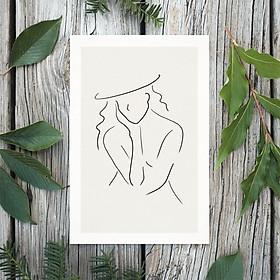Tranh Poster Phong cách tối giản, Bohemian, Lady, Lifestyle, Fashion, Minimalism, Pastel, SOYN PTK014