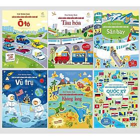 Sách - Sticker Dán hình đầu đời cho bé (bộ 6 cuốn)