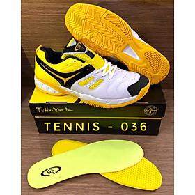 Giày Tennis Nam Nữ Chí Phèo CP036 Màu Trắng Phối Vàng Cao Cấp