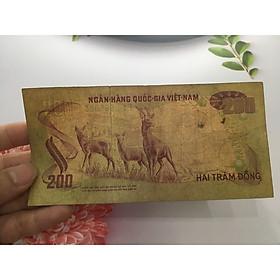 200 đồng con nai [CHẤT LƯỢNG NHƯ HÌNH] loại tiền hiếm gặp, tặng phơi nylon bảo vệ tiền