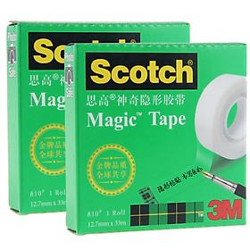 Hình đại diện sản phẩm 3M Scotch Scrub transparent magic invisible tape 810-HC33 12.7mm × 33m 2 package
