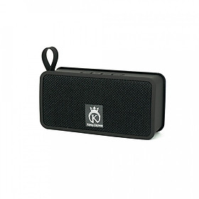 Hình đại diện sản phẩm Loa Bluetooth mini, loa di động hỗ trợ thẻ nhớ, USB có quai đeo KING CROWN JC200 + Tặng cáp Audio Jack 3.5mm (Đen) - Hàng chính hãng