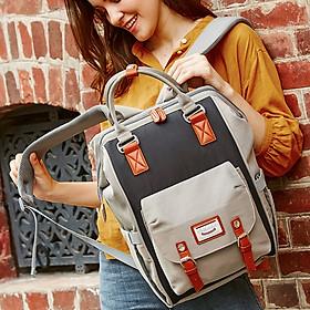 Balo bỉm sữa túi giữ nhiệt 13 ngăn Dokoclub mẫu 2020 cao cấp đựng đồ cho mẹ và bé đi ra ngoài