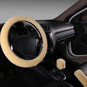 Hình đại diện sản phẩm Steering Wheel Cover Warm Wool Plush Gift Antiscratch Handle Sleeves