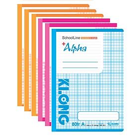 Lố 5 quyển vở kẻ ngang 80 trang Klong Alpha - TP831
