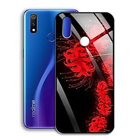 Ốp Lưng Kính Cường Lực cho điện thoại Realme 3 Pro - 0367 7885 HOABINGAN15 - Hoa Bỉ Ngạn - Hàng Chính Hãng