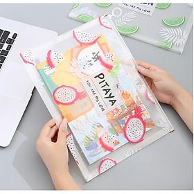 Túi zip A4 đựng file cho học sinh sinh viên nv văn phòng họa tiết dễ thương