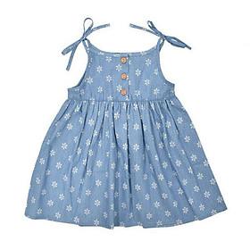 Váy Jean Bé Gái Hai Dây Ardilla 11GS18 - Xanh Navy