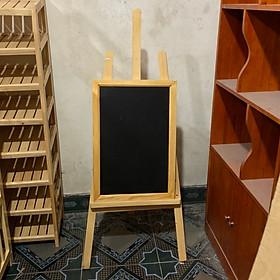 bảng menu 60cm x 40cm kèm chân gỗ 130cm