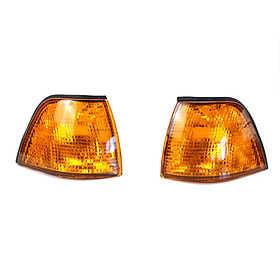 Corner Light Lens Replacement Yellow Amber Indicator Lamp Fit For Side Corner Signal Light Fit For BMW E36 3 Series