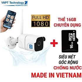 Camera IP Wifi ngoài trời VNPT Technology ONE HOME Home Vision chuẩn chống nước hàng chính hãng