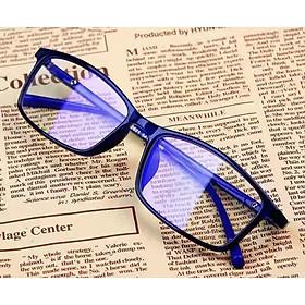 Kính chống xanh nữ, chống bức xạ, kính phẳng bảo vệ mắt ~