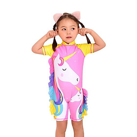 đồ bơi cho bé gái hình ngựa pony xinh xắn