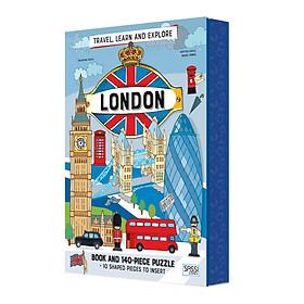 Bộ xếp hình 140 mảnh KHÁM PHÁ LONDON của hãng Sassi - CITIES LONDON