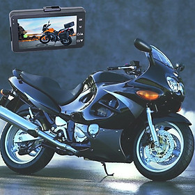 Motorcycle Driving Recorder Locomotive Cycling Camera Separated Waterproof Dual Lens Camcorder