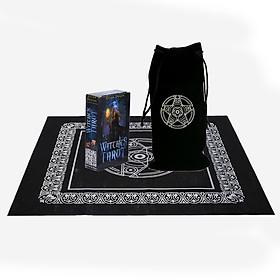 Combo Bộ Bài Bói Tarot Witches Cao Cấp và Túi Nhung Đựng Tarot và Khăn Trải Bàn Tarot