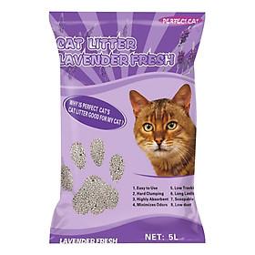 Cát Vệ Sinh Cho Mèo Hương Lavender - Perfect Cat 5 Lít