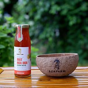 1 Chai Mật Hoa Dừa Trà Vinh - Tặng Bình Bát -  Thương Hiệu SokFram  Đặc Sản Trà Vinh -Dành cho người Ăn Chay - Chay mặn đều dùng được