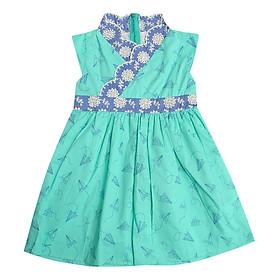 Đầm Bé Gái Hanbok Họa Tiểt Cổ Xéo CucKeo Kids T101902