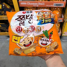 Nongshim Jjolbyeong Snack Anseongtang Noodle Flavor 77g X 3ea