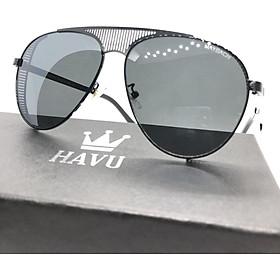 Kính Mắt Nam HAVU thời trang cao cấp đi biển chống bụi mắt kim cương HN2
