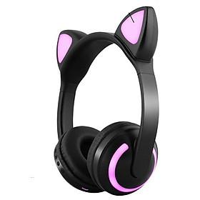 Tai Nghe Bluetooth Chụp Tai Tai Mèo Có Led Phát Sáng 7 màu