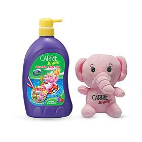 Sữa tắm gội cho bé Carrie Junior hương Grapberry 700g + Voi bông (màu ngẫu nhiên)