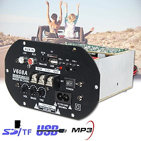 80W Car Auto Subwoofer High Power HiFi Amplifier Board USB Support TF AUX Audio Remote Controls