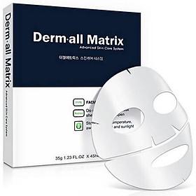 Mặt nạ Derm All Matrix Mask Hàn Quốc trắng da, chống lão hóa, căng bóng da hiệu quả (1 hộp x 4 miếng x 35g)
