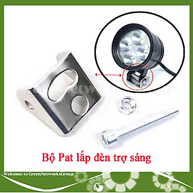 Bộ pat lắp đèn trợ sáng xe máy - Pat lắp đèn trợ sáng L4 L6 Green Networks Group ( 1 bộ )