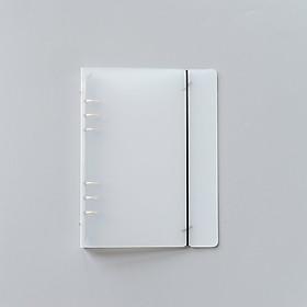 Bìa sổ còng nhựa cứng trong suốt 6 lỗ cỡ A5