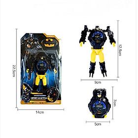 Đồng hồ robot biến hình-Đồng hồ siêu nhân dành cho Bé Trai/ Bé Gái - batman
