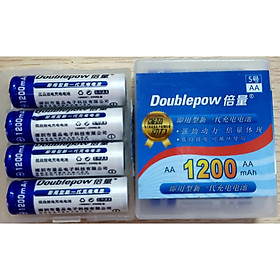 Hộp 4 Pin Sạc- Pin tiểu AA 1200mah Doublepow- Dung lượng thực- SẢN PHẨM CHÍNH HÃNG