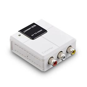 Bộ chuyển đổi tín hiệu AV sang HDMI cao cấp có nguồn phụ Màu Trắng Ugreen GK40225 Hàng chính hãng