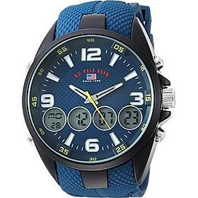 U.S. Polo Assn. Men's Analog-Quartz Watch with Rubber Strap, Blue, 27 (Model: US9598)