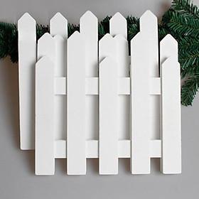 Bộ Hàng Rào Nhựa Lắp Ghép Trang Trí Cây Thông Noel, Sân Vườn Dài 1m6 Cao 20cm