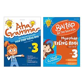 Combo 2 Cuốn Aha Grammar Ngữ Pháp Và Bài Tập Bổ Trợ Tiếng Anh Lớp 3