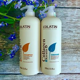 Bộ dầu gội xả dưỡng chất tơ tằm Collagen COLATIN Shampoo & Conditioner 1000ml-0