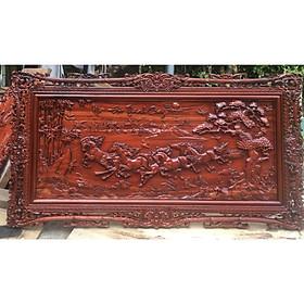 Tranh gỗ MÃ ĐÁO THÀNH CÔNG gỗ HƯƠNG ĐỎ, GÕ ĐỎ 67cmx127cm