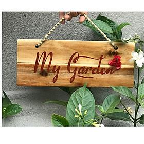 BẢNG GỖ TRANG TRÍ CỔNG VÒM HOA HỒNG - Dùng để treo cổng hoa hồng trang trí vườn ban công