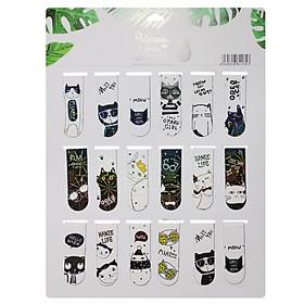 Bookmark Nam Châm Đánh Dấu Sách - Mèo Dễ Thương (Mẫu Ngẫu Nhiên)