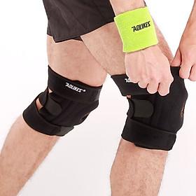 Bộ 2 đai bảo vệ đầu gối có lò xo hỗ trợ xương bánh chè Four spring Sport knee protector Aolikes YE-7618