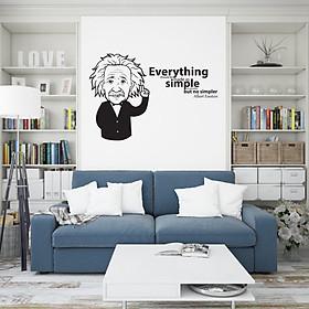Decal Trang Trí Phòng Làm Việc, Decal Trang Trí Phòng Ngủ, Decal Trang Trí Phòng Khách | Decal Chủ Đề Câu Nói Nổi Tiếng Của Albert Einstein