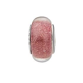 Hình đại diện sản phẩm Hạt charm DIY PNJSilver hình dẹt tròn màu hồng 0000K060167-BO