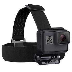 Adjustable Head Mount Harness Fit for Gopro Hero8, Hero7, Hero6, Hero5, Hero4, Hero3, Hero2, Hero1 Action Camera Elastic Head Strap Mount Belt