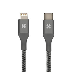 Cáp Chuyển Đổi Promate UniLink-LTC2 Type C Sang Apple Lightning 2m - Xám