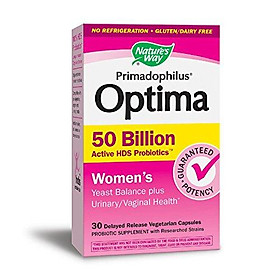 Fortify Optima Women's 50 Billion Probiotic, Acidophilus, 30 Count (Packaging May Vary)