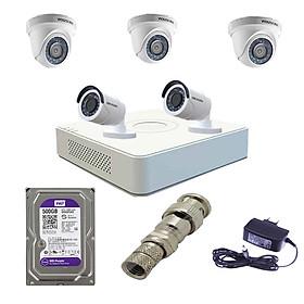 Hình thu nhỏ Trọn bộ 5 camera Hikvision chính hãng DS-2CE56D0T-IRP + DS-2CE16D0T-IRP và đầu ghi DS-7108HGHI-F1/N