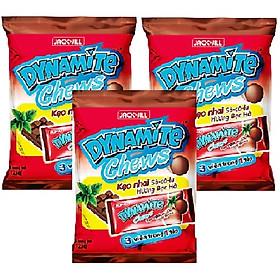 Combo 3 gói kẹo nhai socola hương bạc hà Dynamite Chews ( 125g / gói )